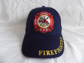 FIRE DEPARTMENT VOLUNTEER FIRE FIGHTER ( V.F.D. ) EMBROIDERED BASEBALL CAP